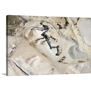 """Aerial view of mine in Long Island, New York"" Canvas Wall Art"