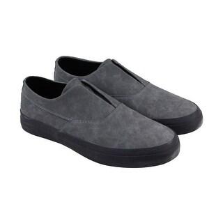 Huf Dylan Slip On Mens Gray Nubuck Slip On Slip On Sneakers Shoes
