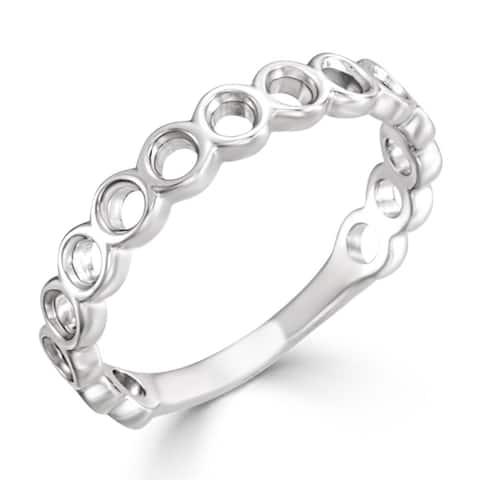 Auriya Petite Stackable Circle 10k Gold Ring