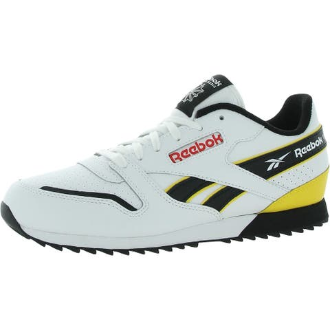 Reebok Mens Running Shoes Leather Lifestyle - White/Black/Prired