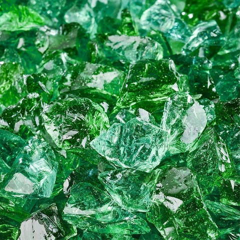 Crushed Fire Glass for Indoor and Outdoor Firepits/Fireplaces (10 lbs.)
