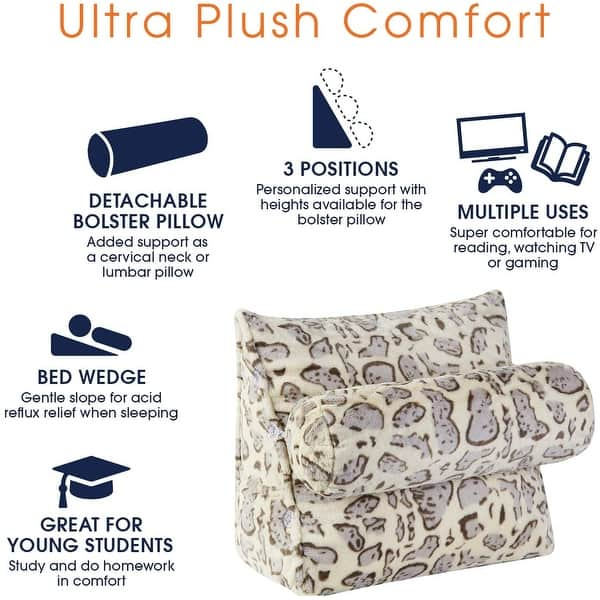 Excellent Blue Memory Foam Comfort Neck Support Cushion for Home Watching TV Reading