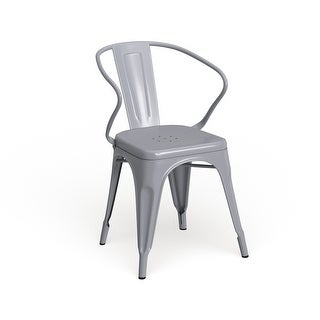 Link to Metal Indoor-Outdoor Chair with Arms Similar Items in Dining Room & Bar Furniture