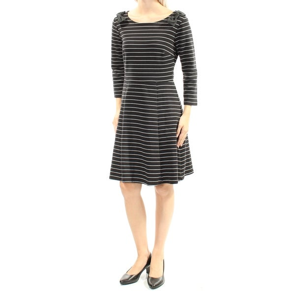 0651cb28f63322 Shop Womens Black 3/4 Sleeve Above The Knee Fit + Flare Dress Size: XXL -  Free Shipping On Orders Over $45 - Overstock - 21329063
