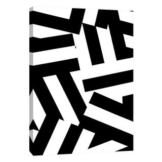 """PTM Images 9-105675  PTM Canvas Collection 10"""" x 8"""" - """"Monochrome Patterns 1"""" Giclee Abstract Art Print on Canvas"""