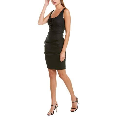 Nicole Miller Linen-Blend Sheath Dress