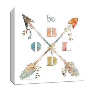 "PTM Images 9-147268  PTM Canvas Collection 12"" x 12"" - ""Be Bold"" Giclee Sayings & Quotes Art Print on Canvas"