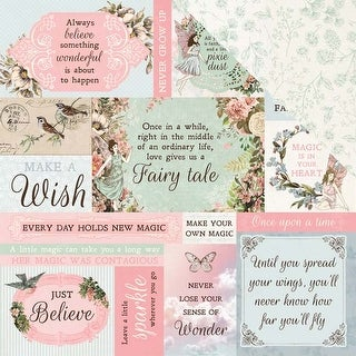 """Wishes - Fairy Garden Double-Sided Cardstock 12""""X12"""" (10/Pack)"""