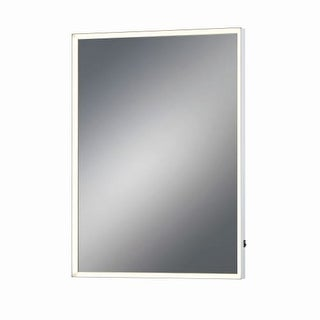 """Eurofase Lighting 31478 28"""" x 20"""" Rectangular Framed Mirror with Dimmable LED Lighting"""