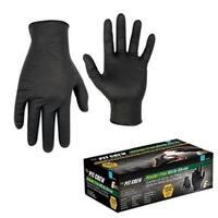 Black Nitrile Disposable Gloves, Box Of 100 - Medium