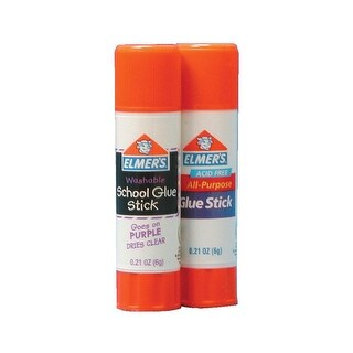 Elmer's Washable School Glue Stick, 0.77 Ounce, Purple Dries Clear