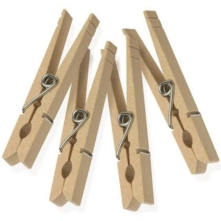 Honey Can Do DRY-01375 Classic Wooden Clothespins, Natural