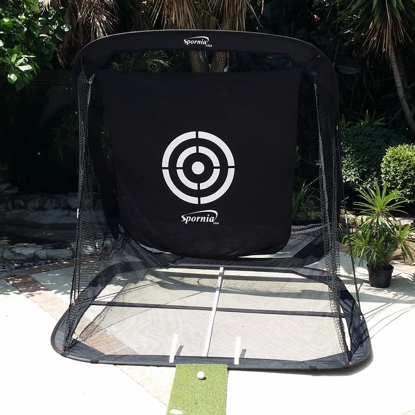 Spornia golf pop up net with ball return free shipping for Overstock free returns