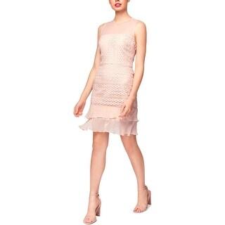 Betsey Johnson Womens Cocktail Dress Lace Mini