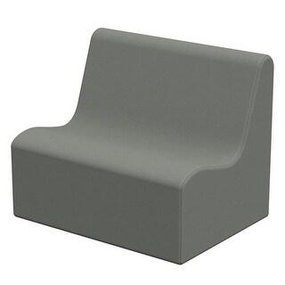 ECR4Kids 28 x 18 x 19.50 in. SoftZone Wave Toddler Sofa - Grey