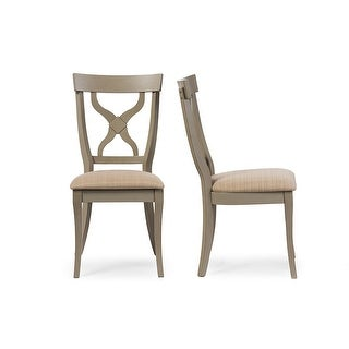 Balmoral Chic Country Cottage Light Grey X-Back Dining Side Chair - 2 Chairs