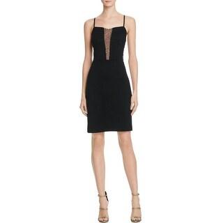 Bailey 44 Womens Eddie Clubwear Dress Ponte Mesh Inset - L