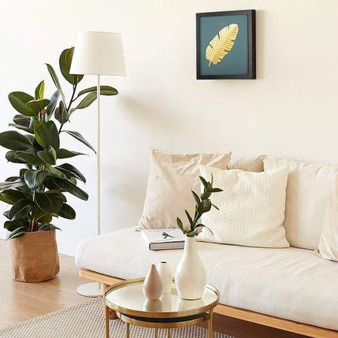 Metal Leaf Wall Decor/Art- Gold leaves Plants Print Poster Hanging-1 PCS