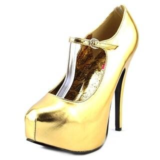 Bordello Teeze-05 Open Toe Synthetic Platform Heel