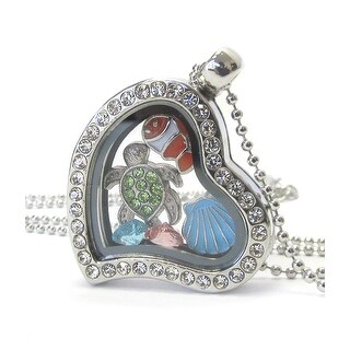 Heart Charm Locket Necklace for Sea Life