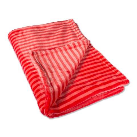 Retro Throw Stripe Red 50X60