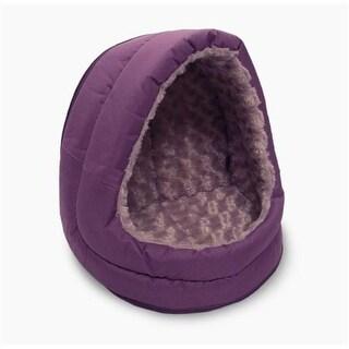 Ultra Plush Cat Hood Lavender Pet Bed