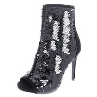 Thalia Sodi Womens Rese 2 Sequined Suede Trim Booties