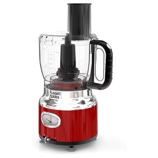 Russell Hobbs Retro Style 8 Cup Food Processor in Red