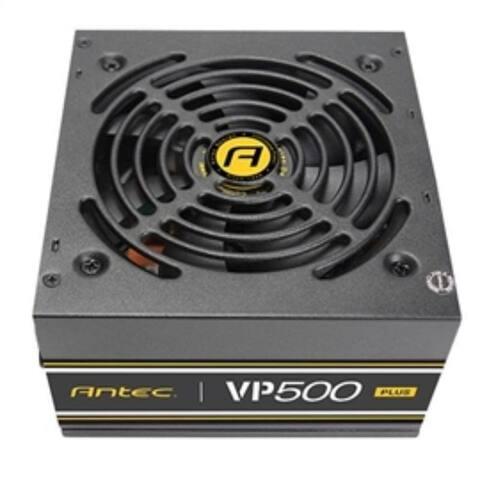 Antec Power Supply VP500 PLUS 500W Non-Modular 12V 120mm Fan PCI-Express SATA ActivePFC 80+ Retail
