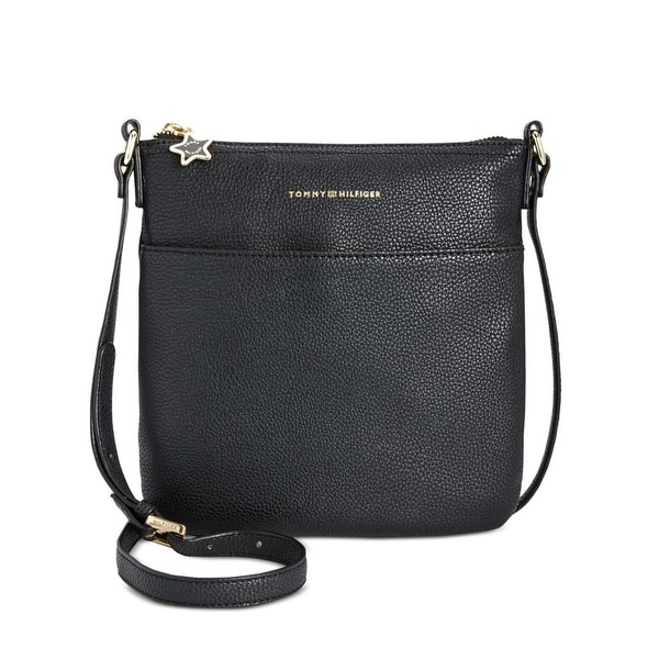 558b3df0f2 Shop Tommy Hilfiger Womens Flat Crossbody Handbag Faux Leather Pebble -  small - Free Shipping On Orders Over $45 - Overstock - 25596071
