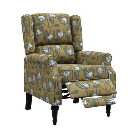 Copper Grove Cale Wingback Push Back Recliner Chair