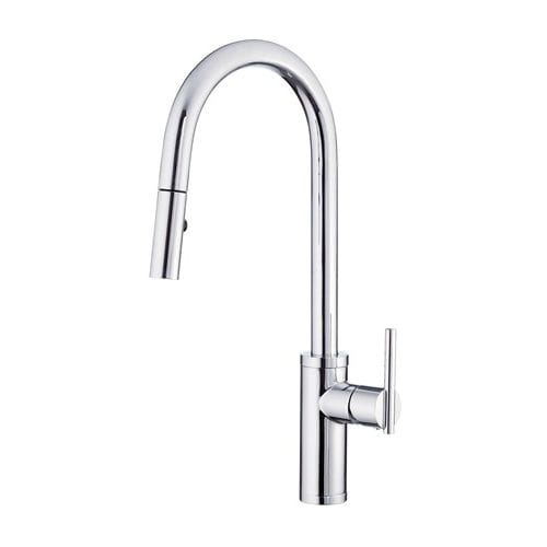 danze d454058 parma pullout spray kitchen faucet with snapback technology - Danze Kitchen Faucets