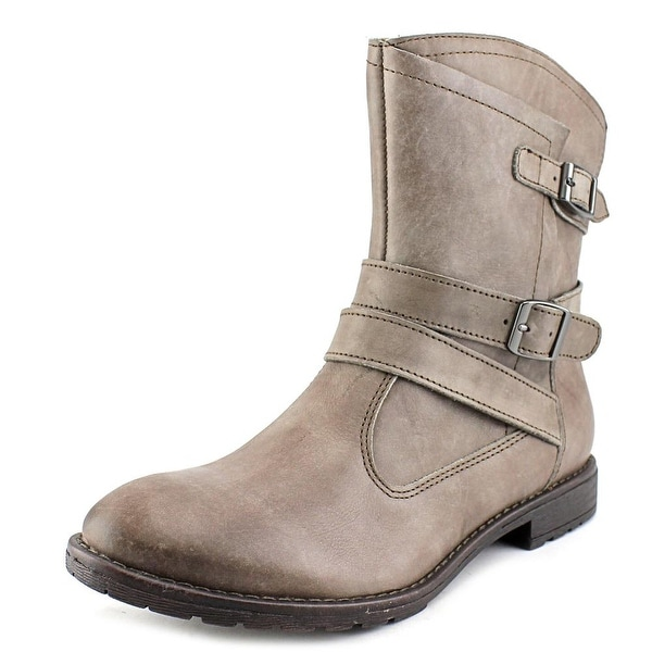 Montana Rylan Women Round Toe Leather Gray Ankle Boot
