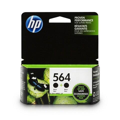 HP 564 Black original Ink Cartridges Twin Pack (C2P51FN)