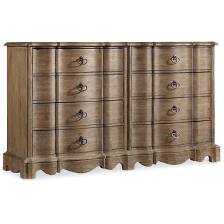 "Hooker Furniture 5180-90002  68"" Wide 8 Drawer Acacia Wood Dresser from the Corsica Collection - Light Natural Acacia"
