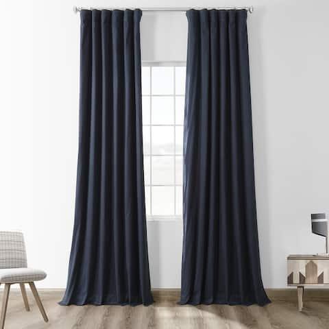 Exclusive Fabrics Solid Cotton True Blackout Curtain Panel