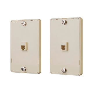 Monoprice Phone Jack Wall Plate - Ivory (2 pack)