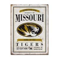 University of Missouri Vintage Tin Sign