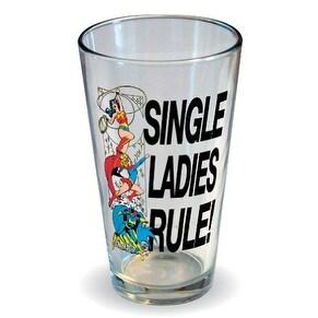 Dc Comics Single Ladies Rule Pint Glass