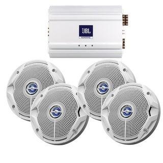 "JBL Ms6520 & Ma6004 Package 2 X 6.5"" Speakers & Amp - MS6520-X2/MA6004"
