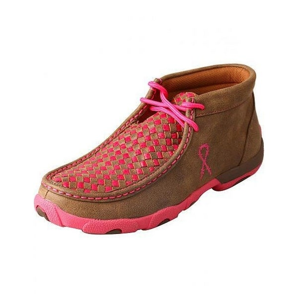 Twisted X Casual Shoes Womens Checkered Lace Up Bomber Pink