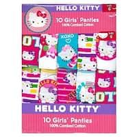Handcraft Little Girls' Hello Kitty 10 Pack Multi-print Underwear, Multi, Size 6