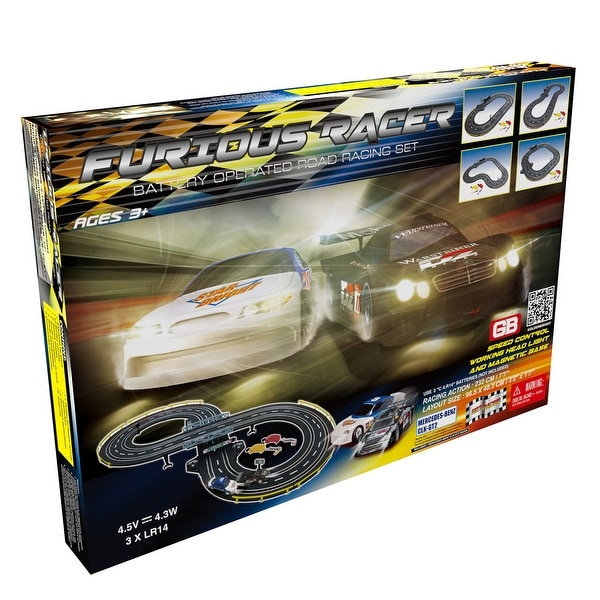 Furious Racer Road Racing Slot Car Set - Battery Operated. Opens flyout.