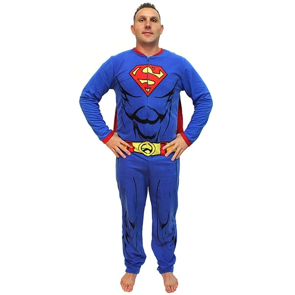7e83791607 Shop DC Comics Superman Muscle Adult Costume Union Suit with Cape - Free  Shipping On Orders Over $45 - Overstock - 18536323