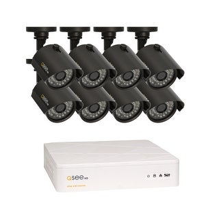 Q-See 8 Channel HD Security System with 8-720p HD Cameras, Pre-installed 1TB Hard Drive