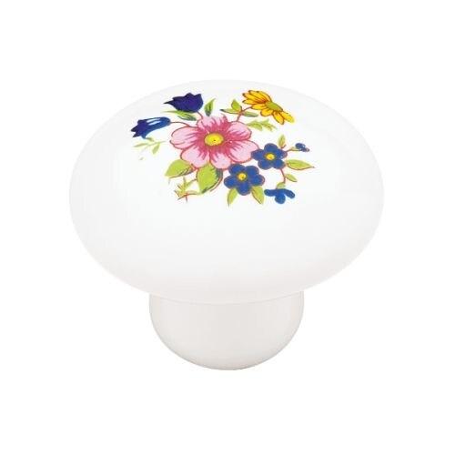 Ceramic 1-3/8 Inch Diameter Mushroom Cabinet Knob