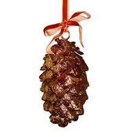 "6"" Lustrous Metallic Bronze Pine Cone Christmas Ornament"