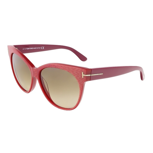 Tom Ford FT0330/S 77G Saskia Coral Pink Cateye Sunglasses - Coral Pink - 57-14-140