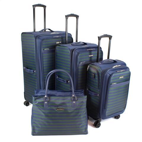 Isaac Mizrahi Ingram 4-Piece Spinner Luggage Set
