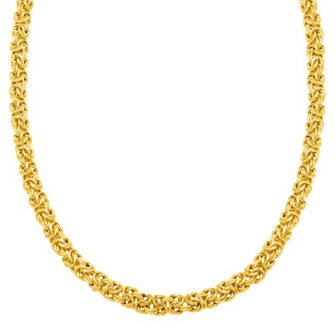 Byzantine Chain Necklace in 18K Gold-Plated Sterling Silver - Yellow